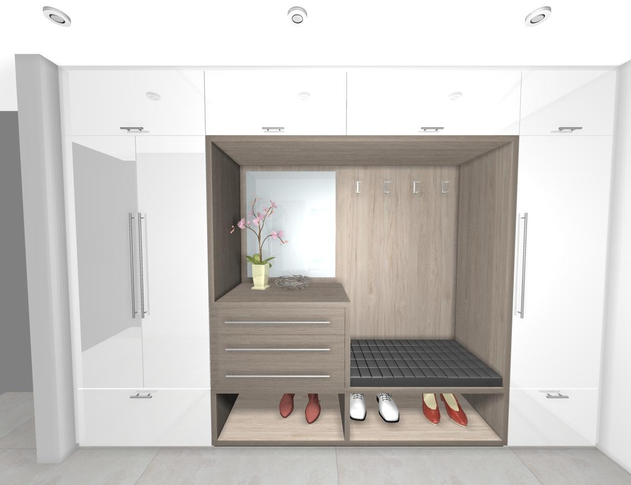 Grafické návrhy interiér 2019 - Grafický návrh vstupnej chodby v rodinnom dome - obr.2