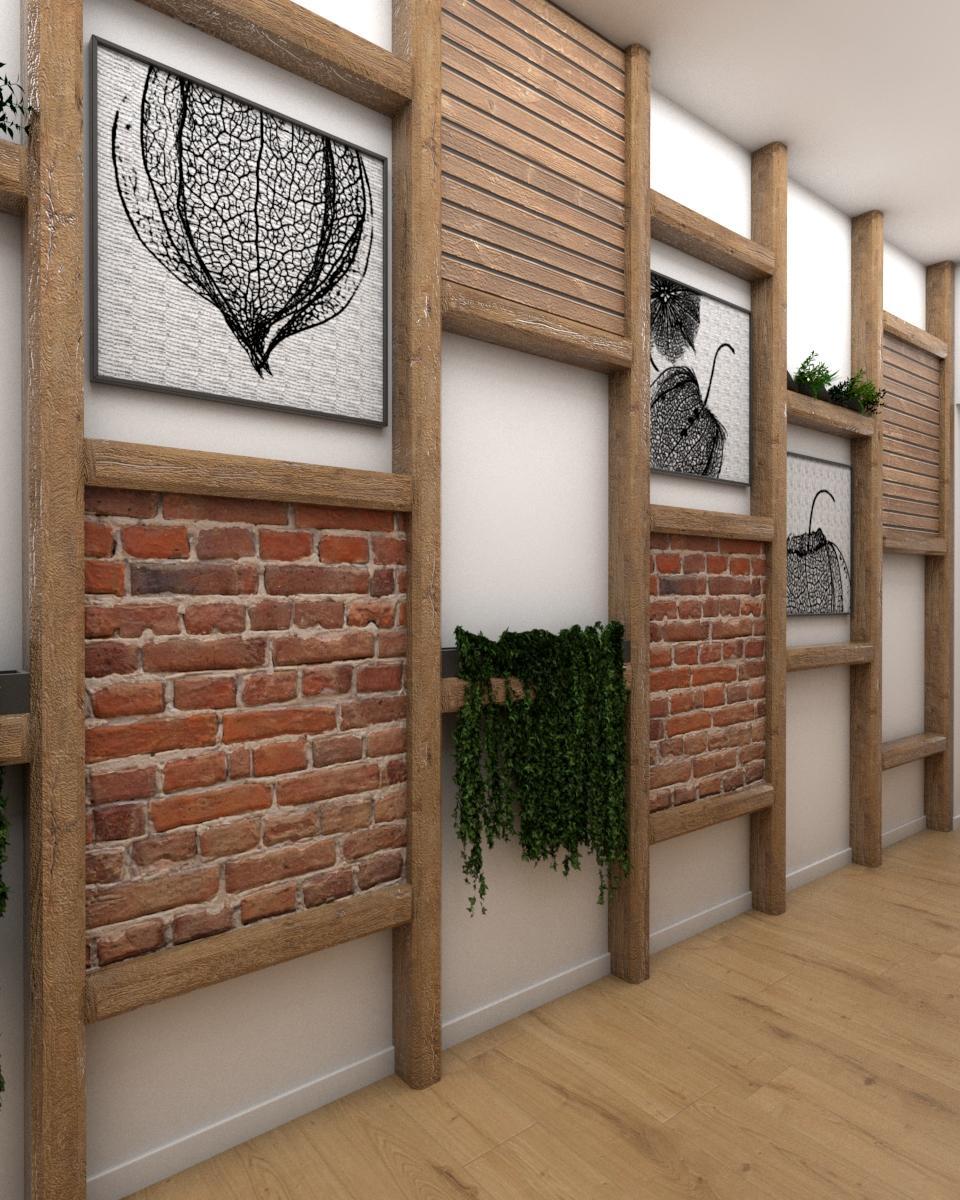 Grafické návrhy interiér 2019 - Grafický návrh vstupnej chodby v paneláku vo vidieckom štýle - obr.4