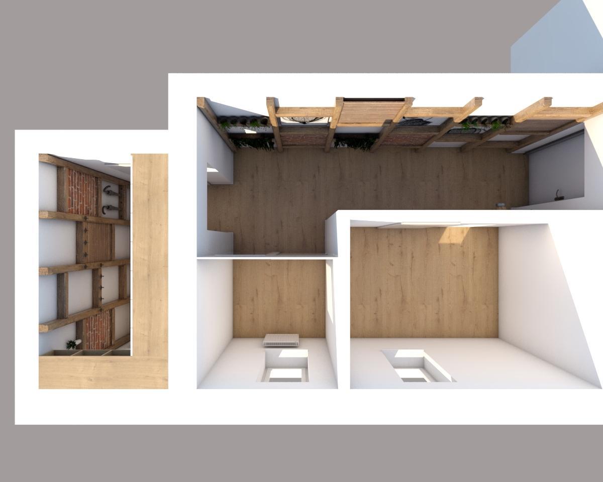 Grafické návrhy interiér 2019 - Grafický návrh vstupnej chodby v paneláku vo vidieckom štýle - obr.5