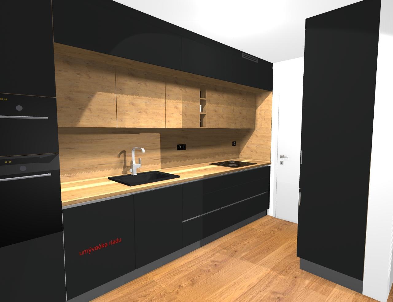 Grafické návrhy kuchynských liniek 2019 - Grafický návrh kuchyne a Tv steny do paneláku v BB - obr.4