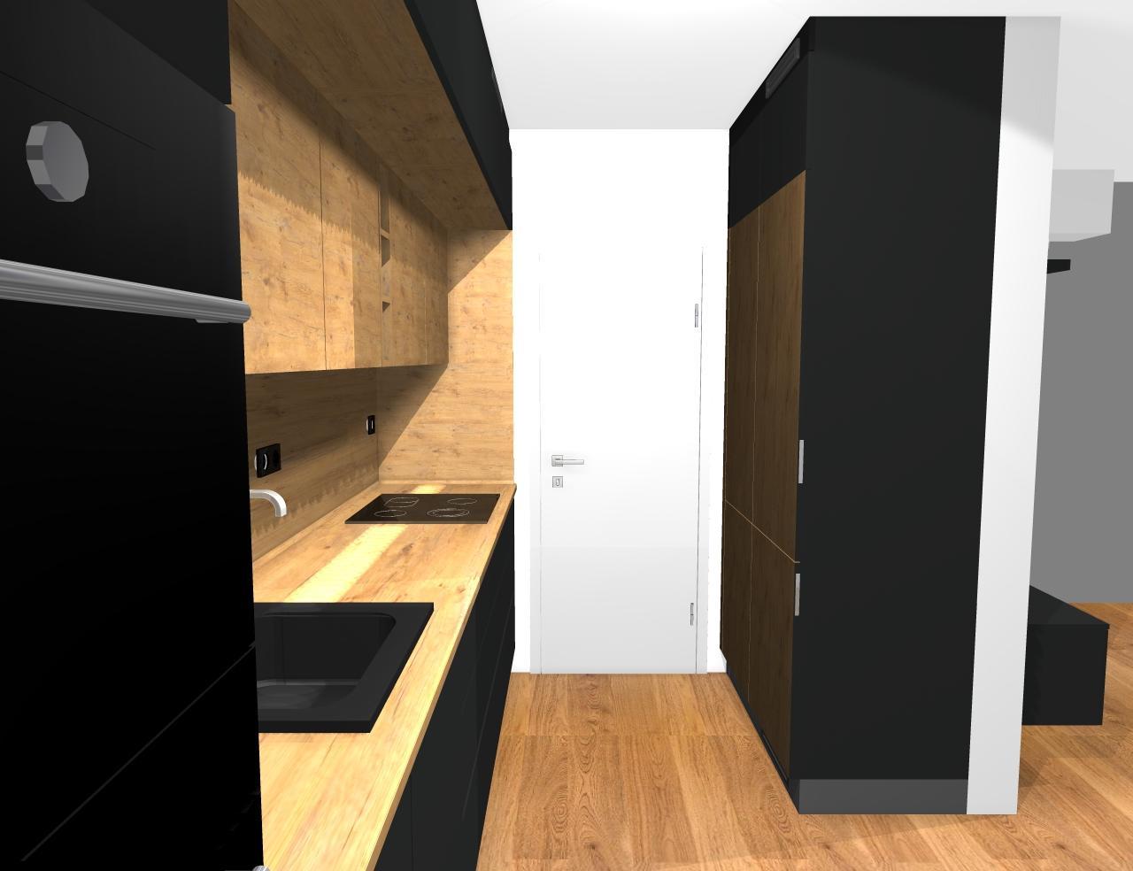 Grafické návrhy kuchynských liniek 2019 - Grafický návrh kuchyne a Tv steny do paneláku v BB - obr.5