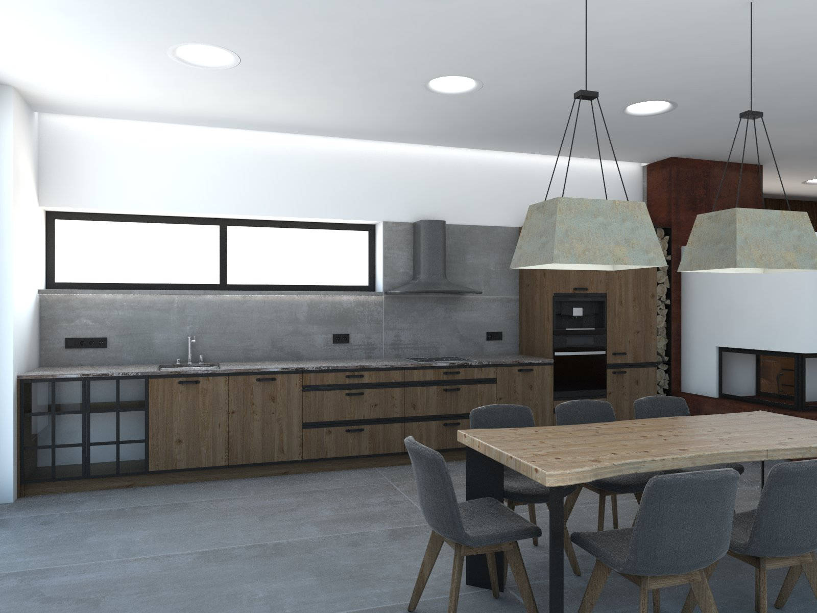 ryska25 - grafický návrh kuchynskej linky v altánku - obr.2