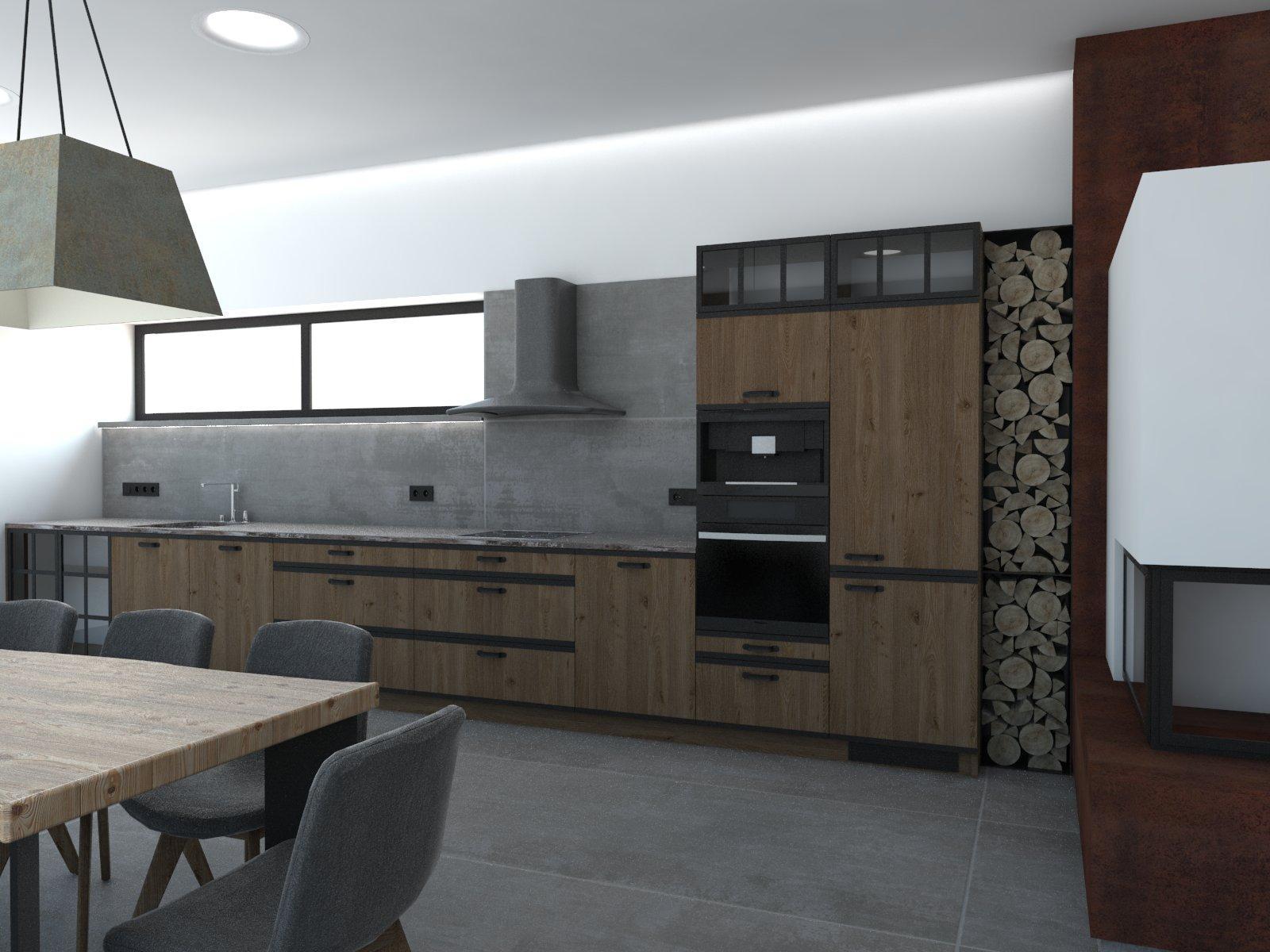 ryska25 - grafický návrh kuchynskej linky v altánku - obr.3