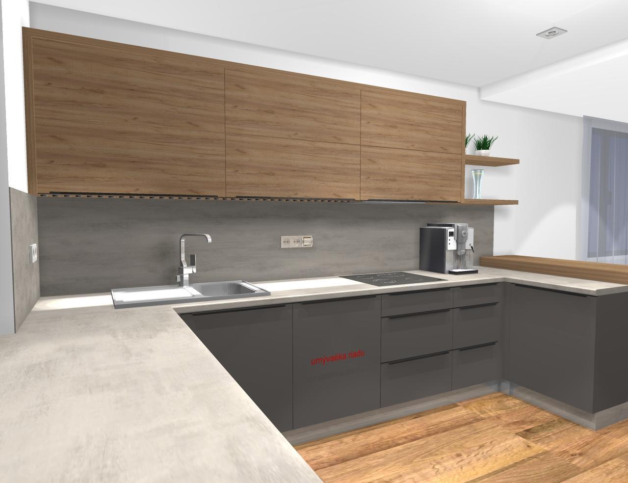 ryska25 - Grafický návrh kuchynskej linky v rodinnom dome v BB - obr.6