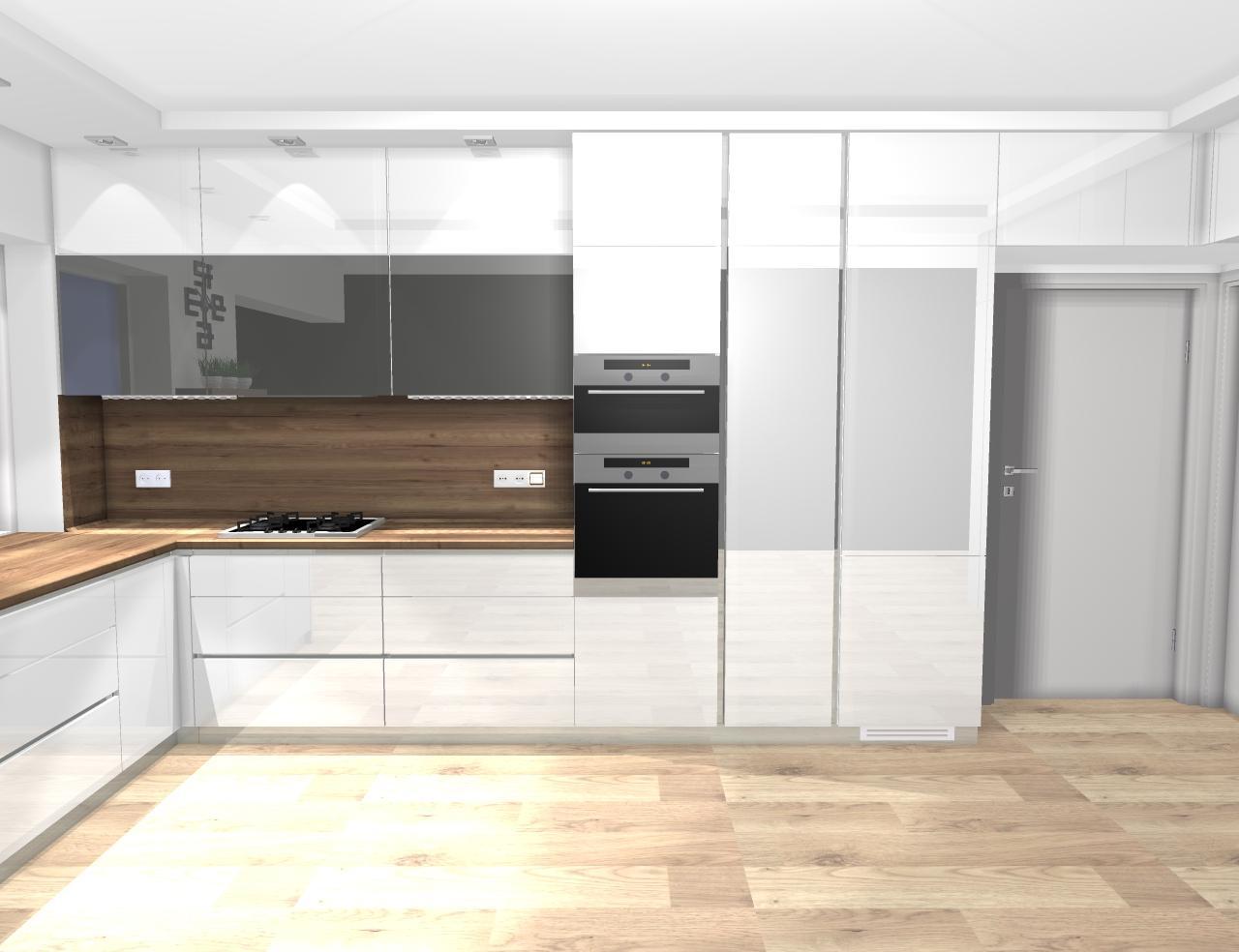 Grafické návrhy kuchynských liniek 2020 - návrh kuchynskej linky do rodinného domu -verzia 1 - obr.4