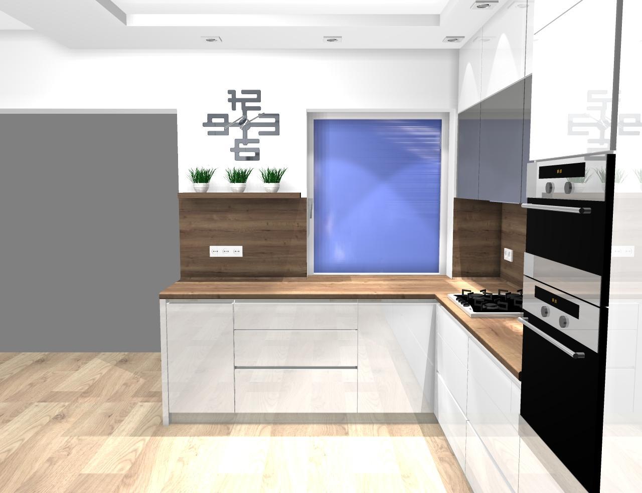 Grafické návrhy kuchynských liniek 2020 - návrh kuchynskej linky do rodinného domu -verzia 1 - obr.5