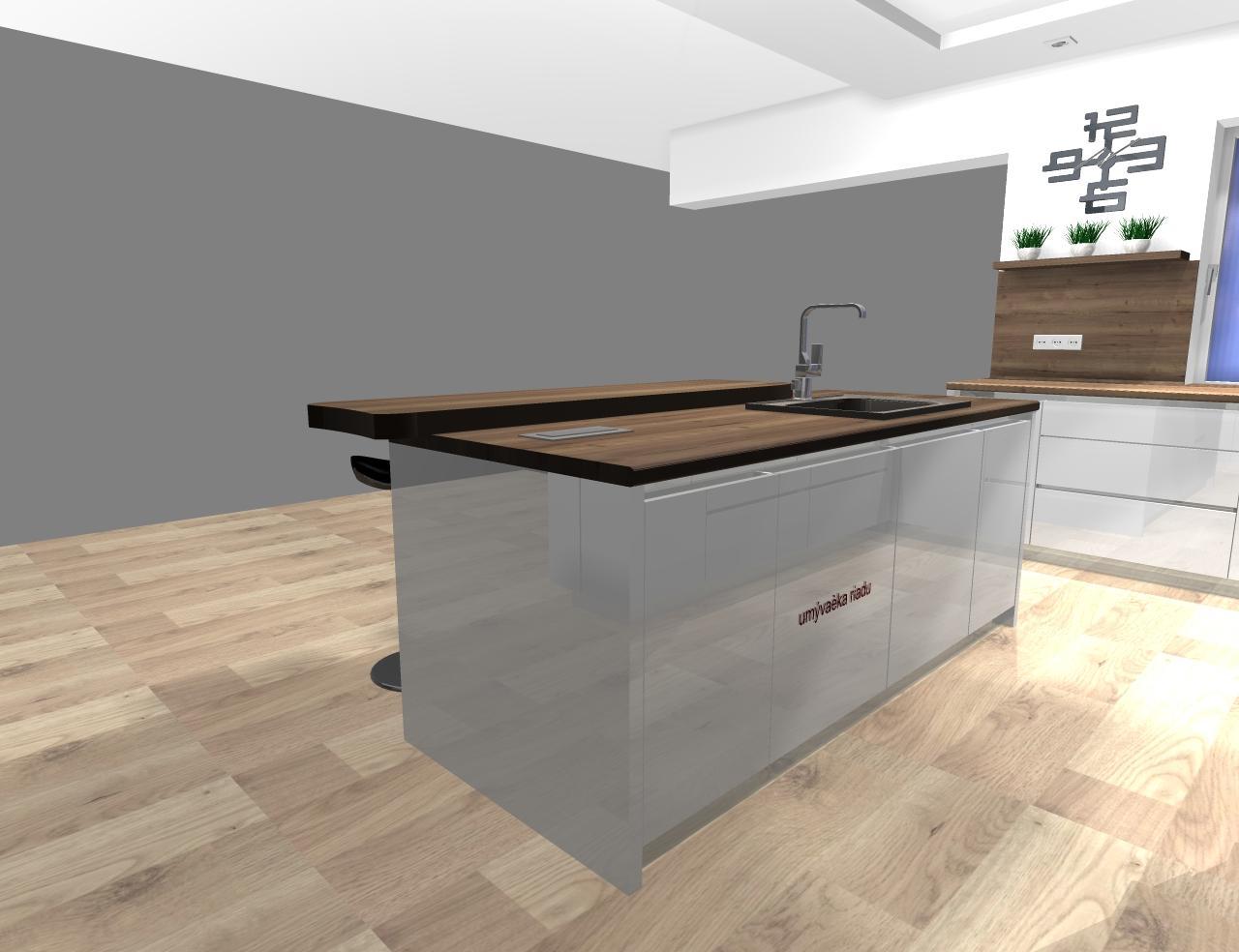Grafické návrhy kuchynských liniek 2020 - návrh kuchynskej linky do rodinného domu -verzia 1 - obr.7