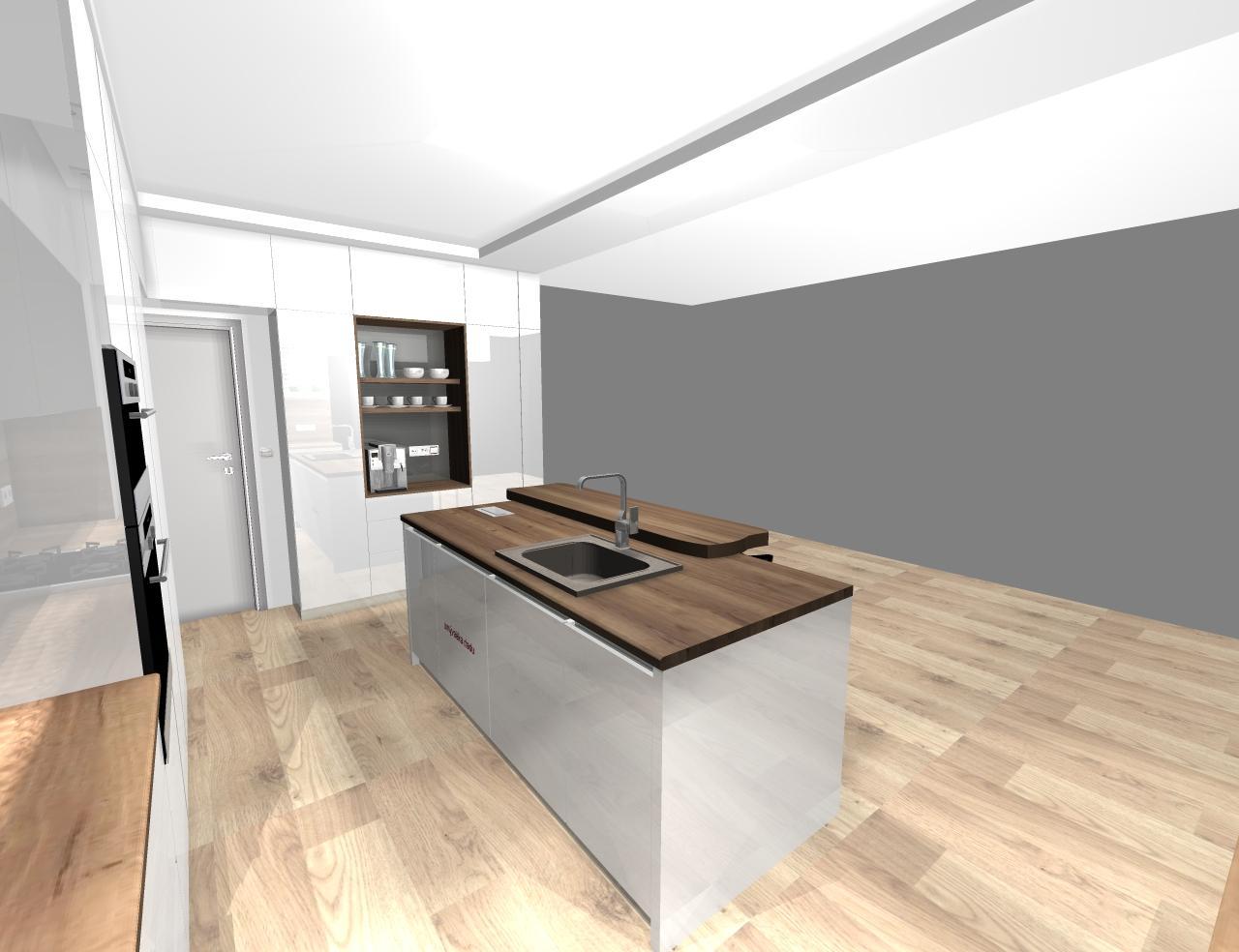Grafické návrhy kuchynských liniek 2020 - návrh kuchynskej linky do rodinného domu -verzia 1 - obr.8