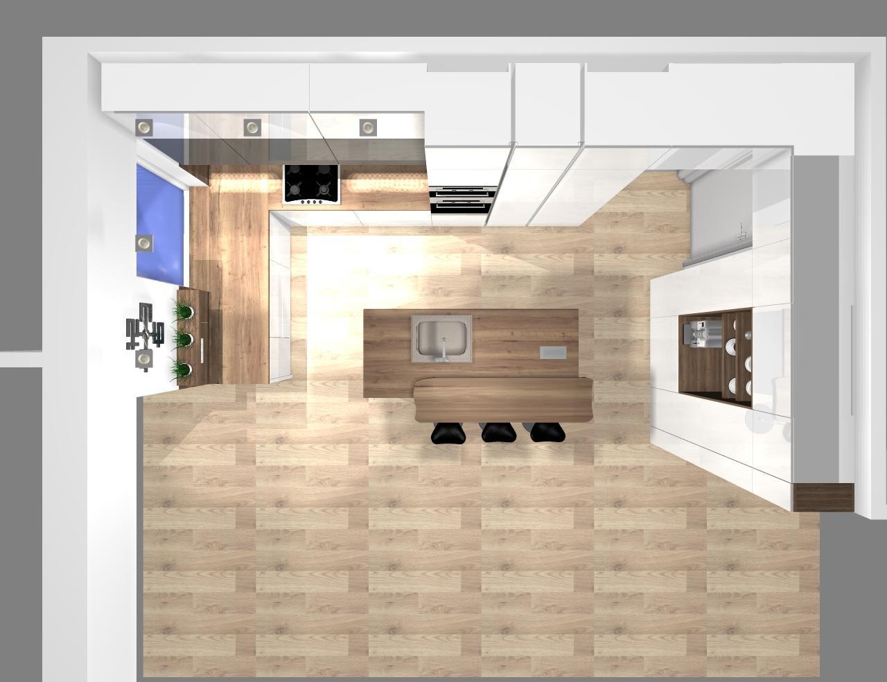Grafické návrhy kuchynských liniek 2020 - návrh kuchynskej linky do rodinného domu -verzia 1 - obr.9
