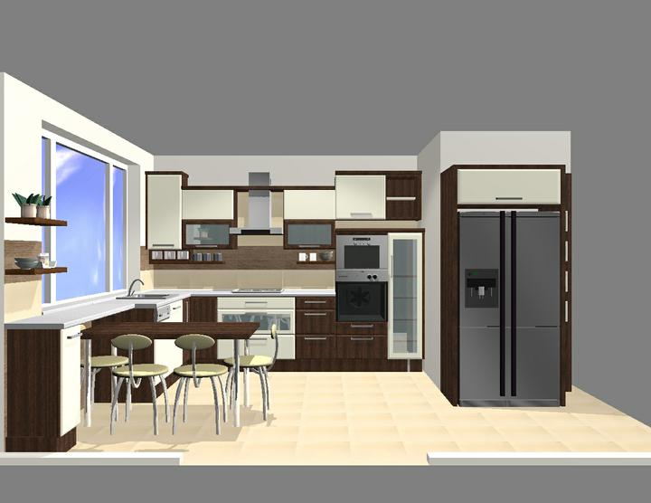Vizualizácie kuchyne - panelák 2010-2011 - Vizualizácie kuchyne - panelák