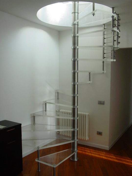 Schody - sklo a drevo - schody Siller 5