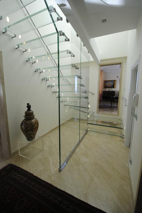 Schody - sklo a drevo - schody Siller 7