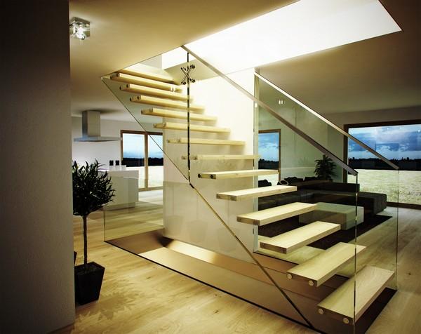 Schody - sklo a drevo - schody Siller 10