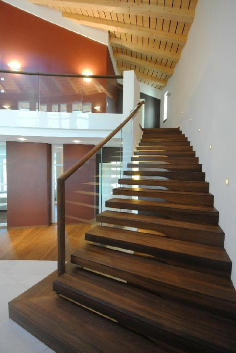 Schody - sklo a drevo - schody Siller 1