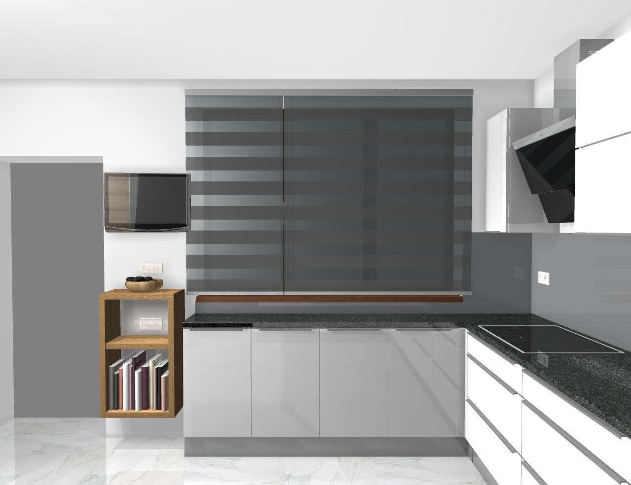Grafické návrhy kuchynských liniek 2020 - Grafický návrh kuchynskej linky do rodinného domu - obr.4