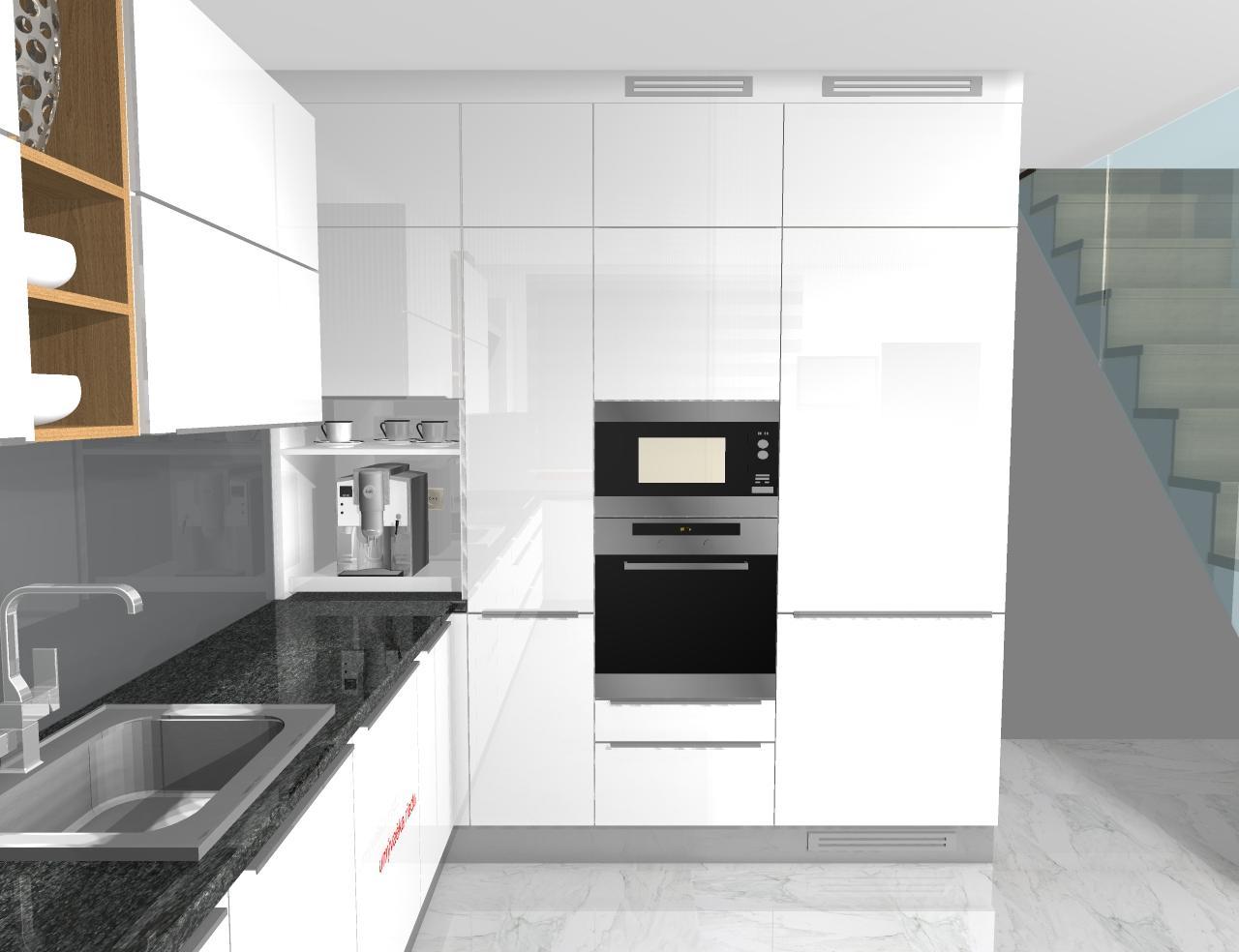 Grafické návrhy kuchynských liniek 2020 - Grafický návrh kuchynskej linky do rodinného domu - obr.6