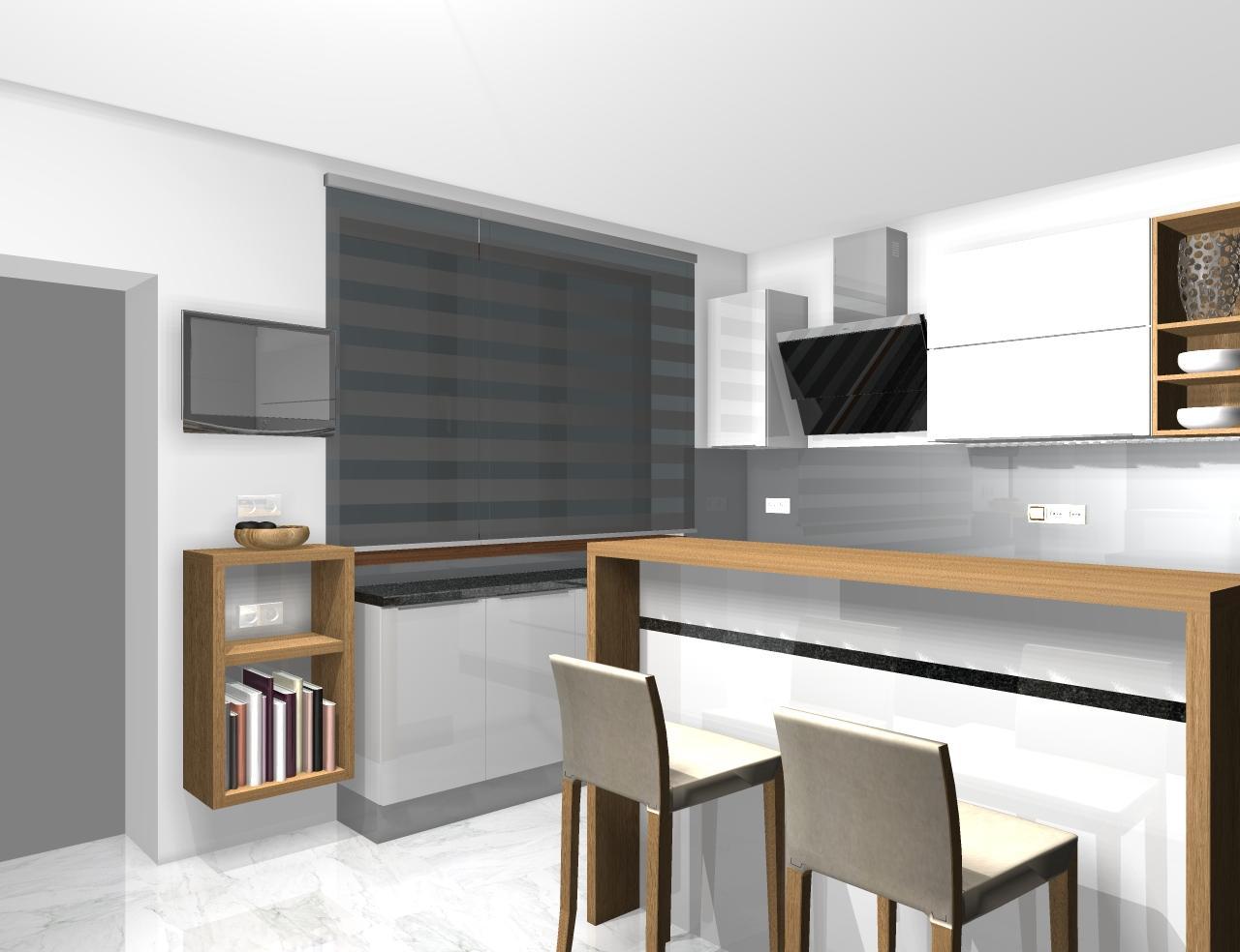 Grafické návrhy kuchynských liniek 2020 - Grafický návrh kuchynskej linky do rodinného domu - obr.3