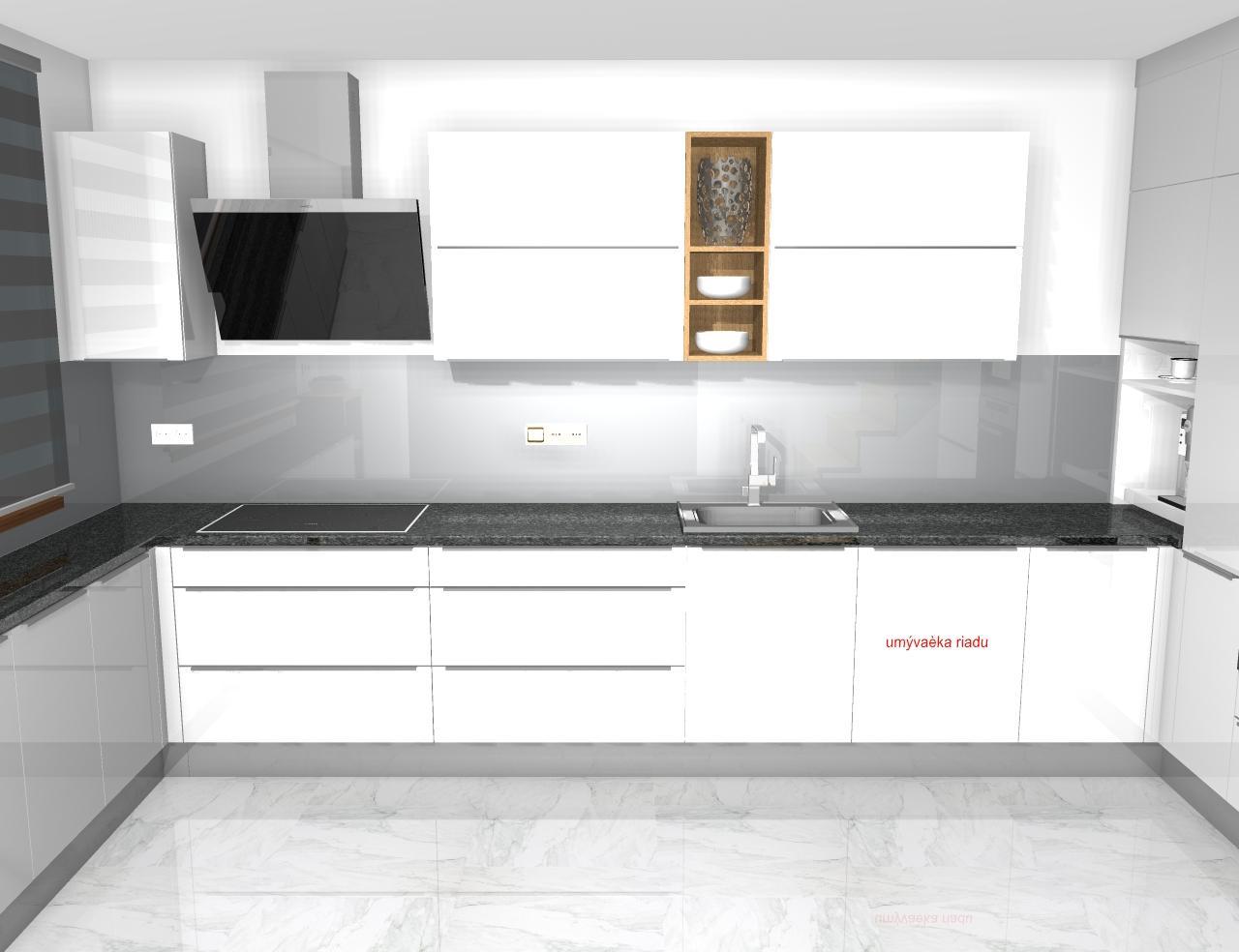 Grafické návrhy kuchynských liniek 2020 - Grafický návrh kuchynskej linky do rodinného domu - obr.5
