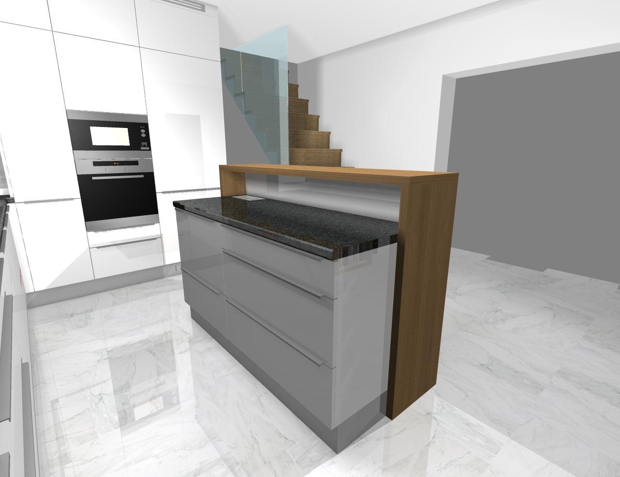 Grafické návrhy kuchynských liniek 2020 - Grafický návrh kuchynskej linky do rodinného domu - obr.7
