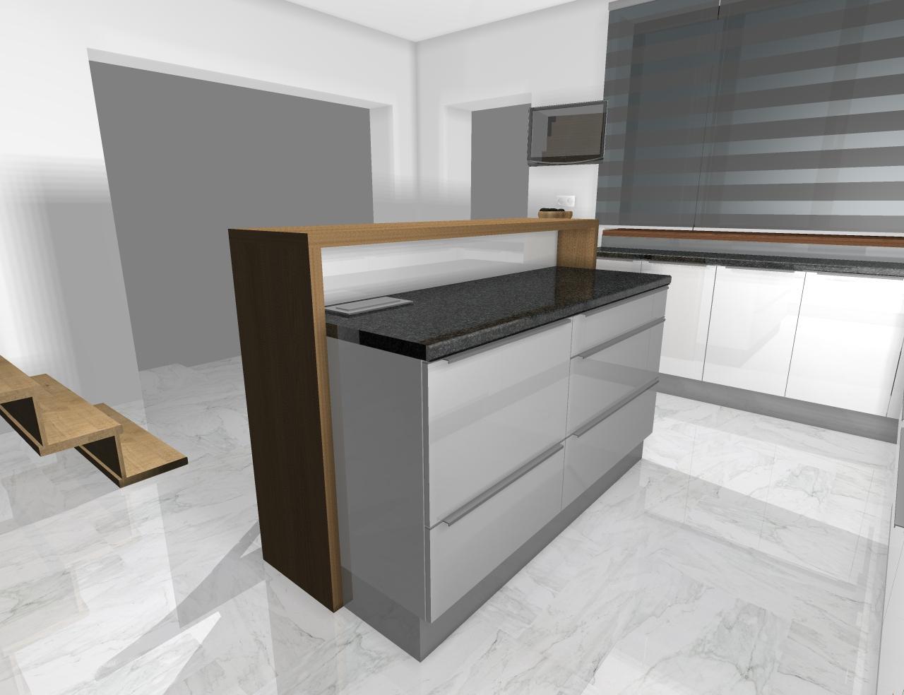 Grafické návrhy kuchynských liniek 2020 - Grafický návrh kuchynskej linky do rodinného domu - obr.8