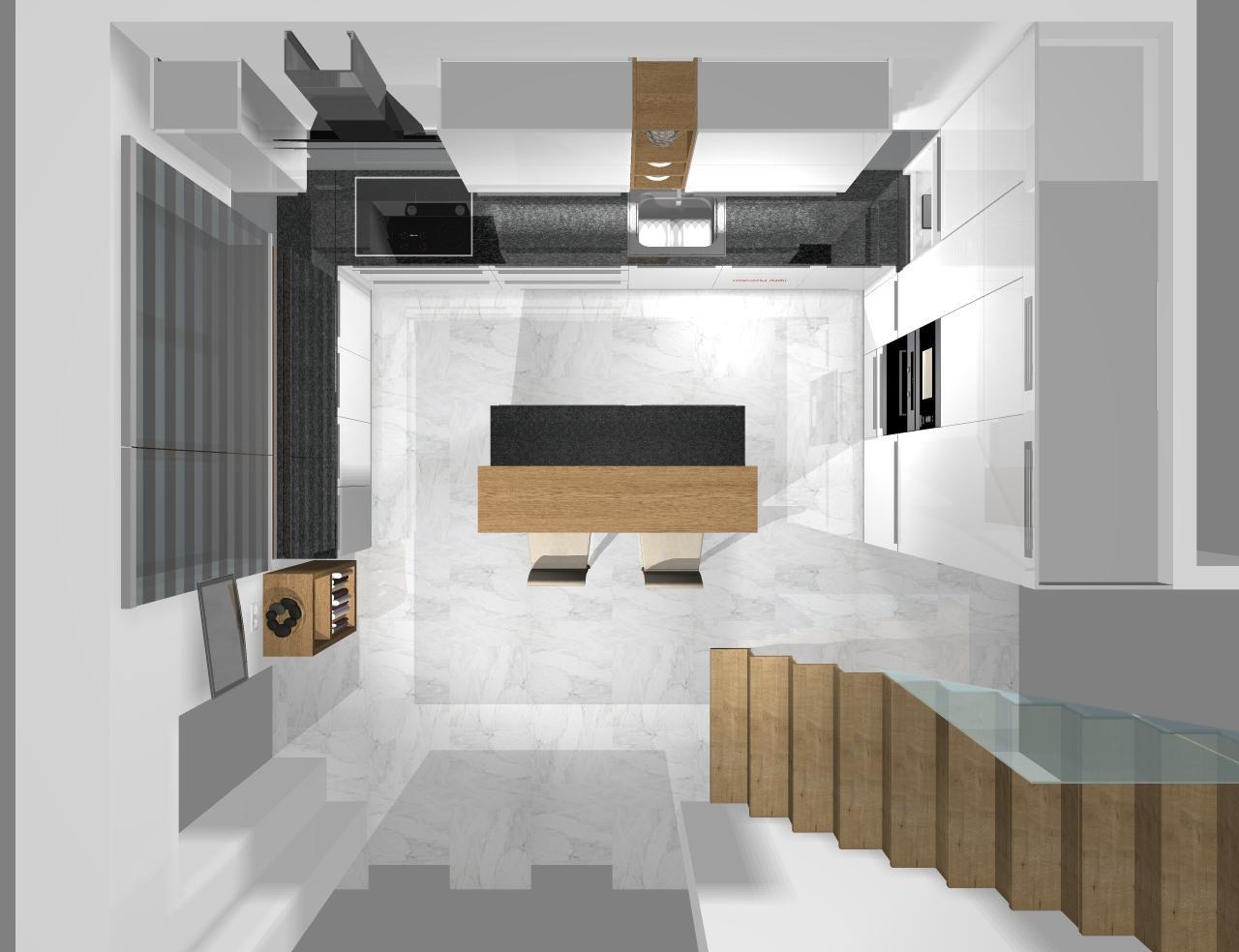 Grafické návrhy kuchynských liniek 2020 - Grafický návrh kuchynskej linky do rodinného domu - obr.9
