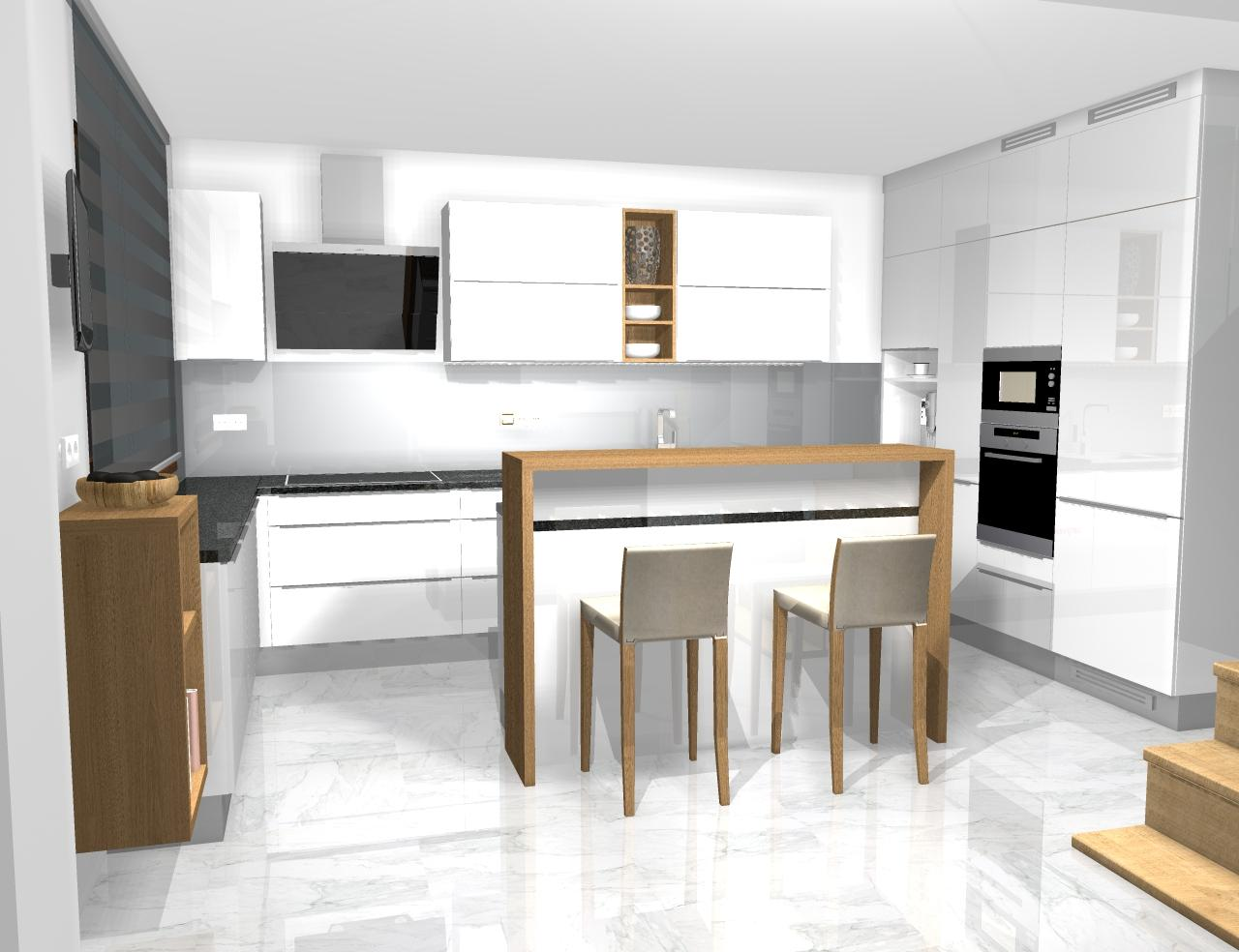 Grafické návrhy kuchynských liniek 2020 - Grafický návrh kuchynskej linky do rodinného domu - obr.2