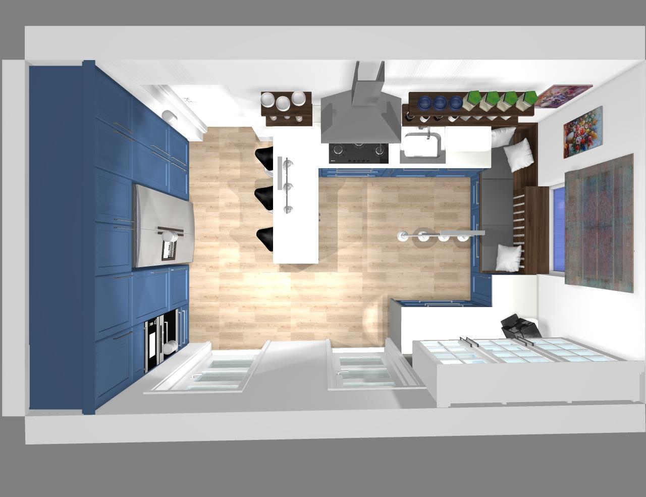 Grafické návrhy kuchynských liniek 2020 - Grafický návrh kuchynskej linky do rodinného domu vo Svätom Antone - obr.8