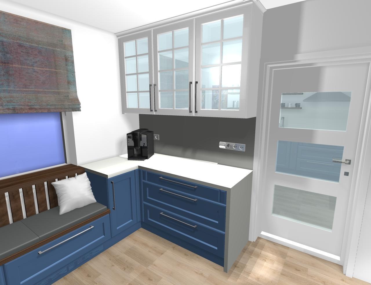 Grafické návrhy kuchynských liniek 2020 - Grafický návrh kuchynskej linky do rodinného domu vo Svätom Antone - obr.6