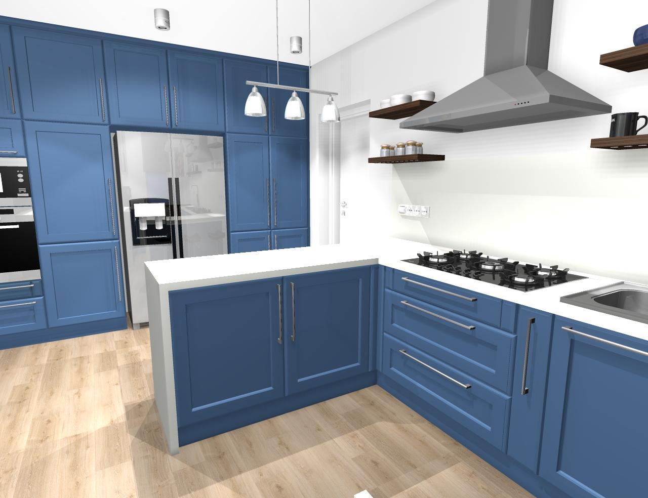 Grafické návrhy kuchynských liniek 2020 - Grafický návrh kuchynskej linky do rodinného domu vo Svätom Antone - obr.4