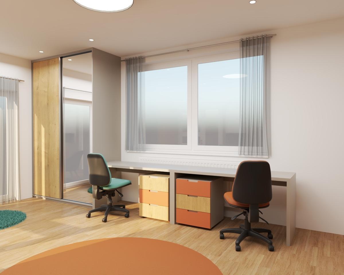 Grafické návrhy interiér 2020 - Grafický návrh detskej izby do rodinného domu - verzia 1 - obr.4