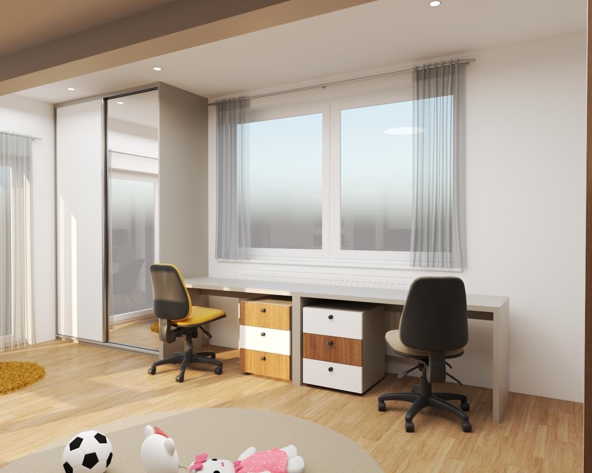 Grafické návrhy interiér 2020 - Grafický návrh detskej izby do rodinného domu - verzia 2- obr.4