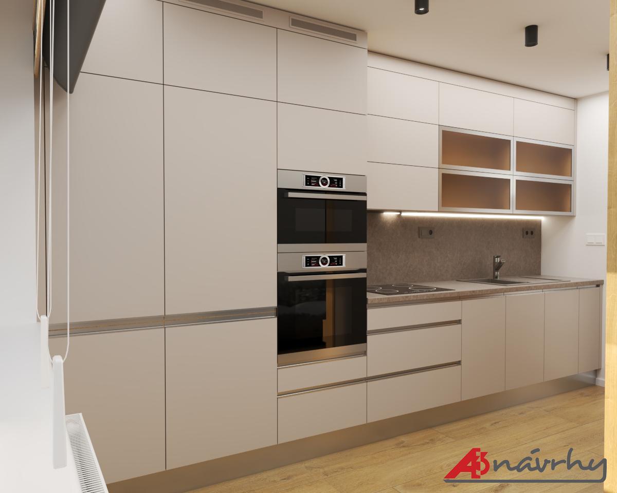 Grafické návrhy bytov a domov - Grafický návrh zariadenia trojizbového bytu v BA - obr.2