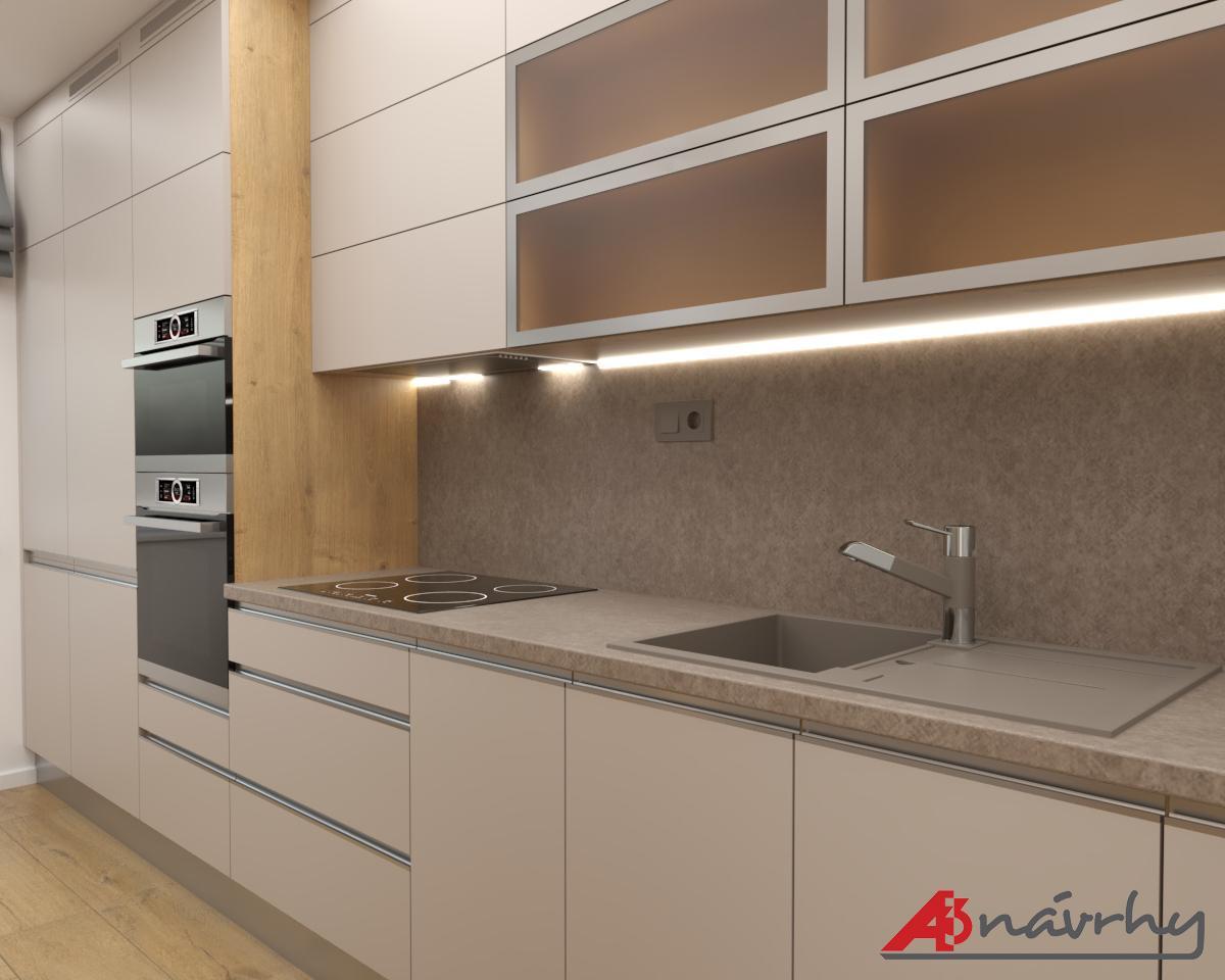 Grafické návrhy bytov a domov - Grafický návrh zariadenia trojizbového bytu v BA - obr.1