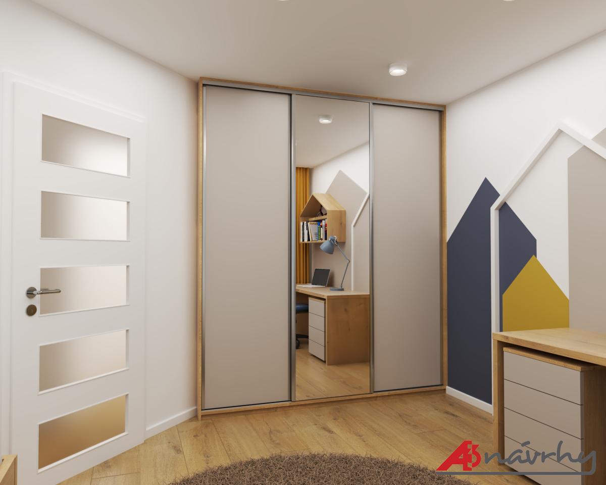 Grafické návrhy bytov a domov - Grafický návrh zariadenia trojizbového bytu v BA - obr.11