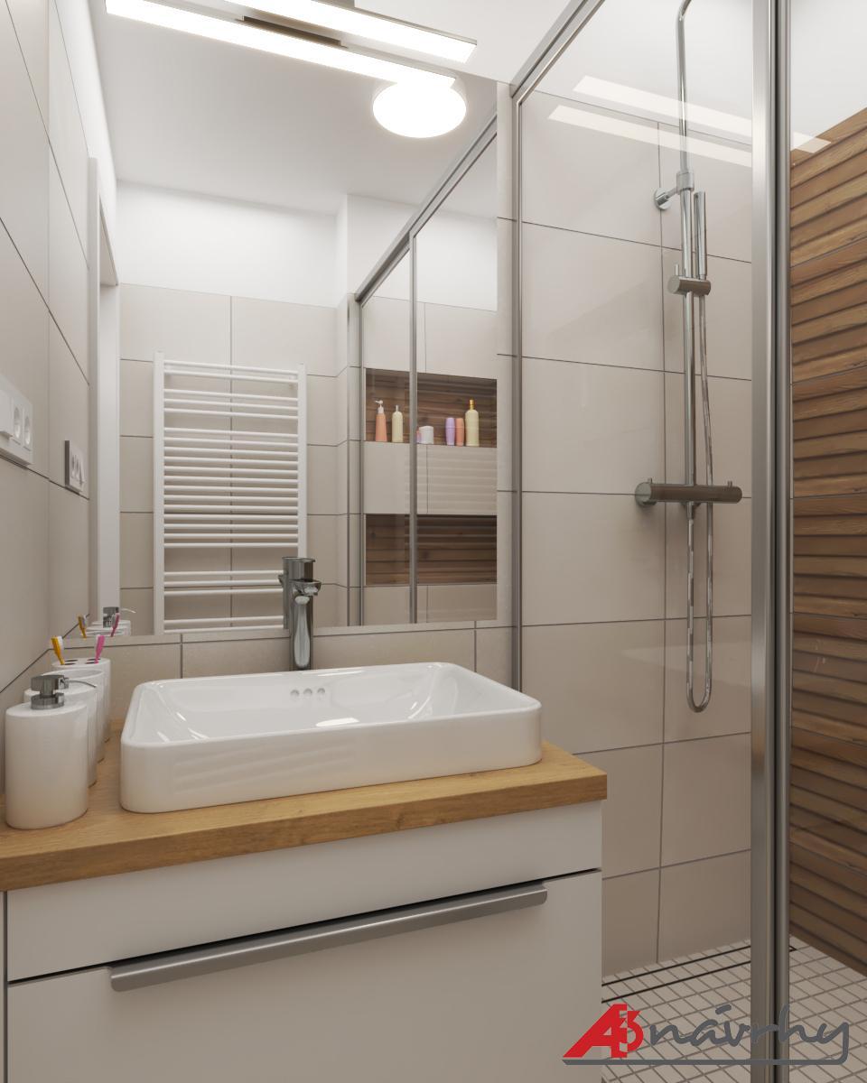 Grafické návrhy bytov a domov - Grafický návrh zariadenia trojizbového bytu v BA - obr.16