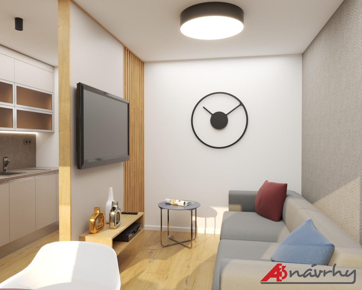 Grafické návrhy bytov a domov - Grafický návrh zariadenia trojizbového bytu v BA - obr.4