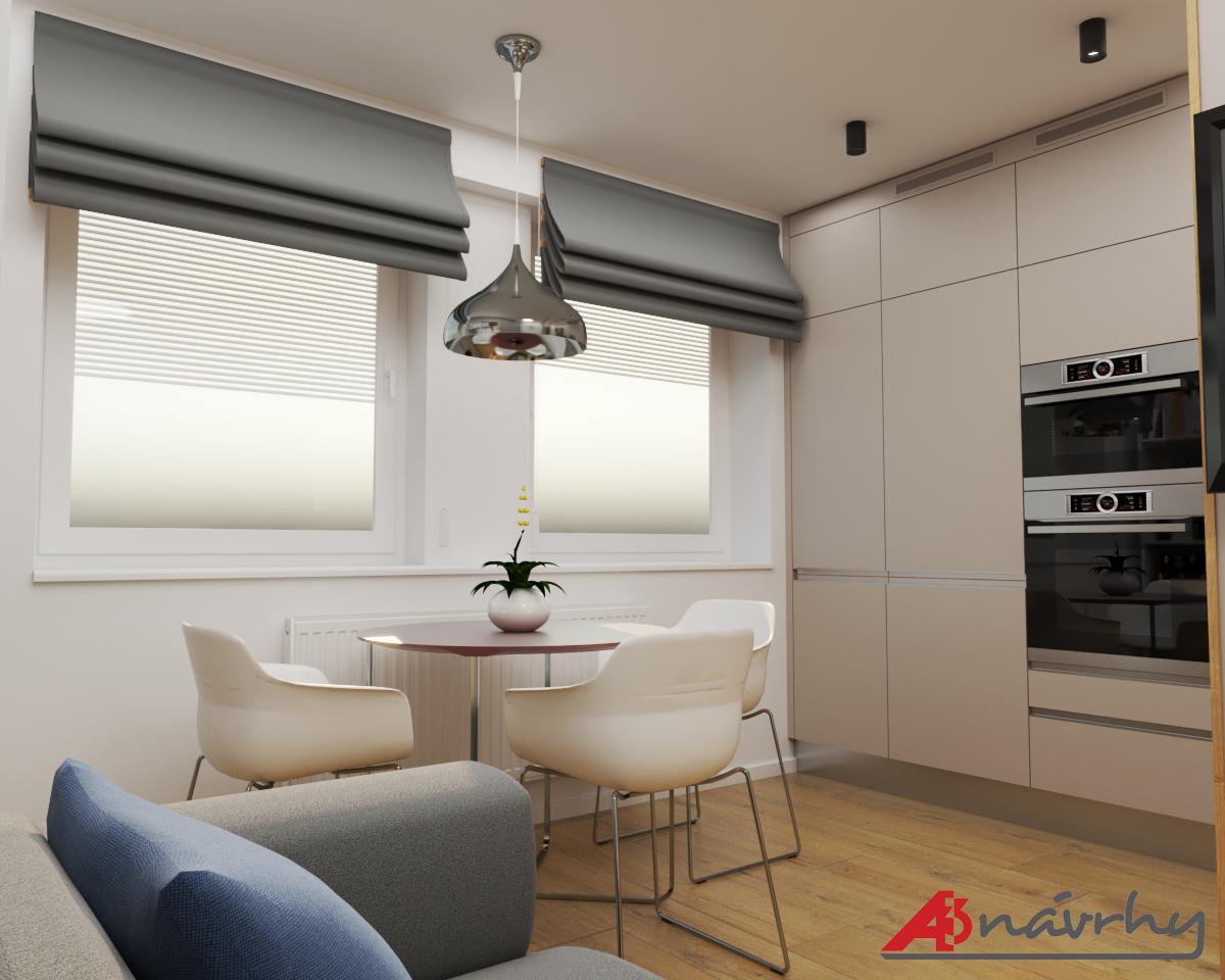 Grafické návrhy bytov a domov - Grafický návrh zariadenia trojizbového bytu v BA - obr.3
