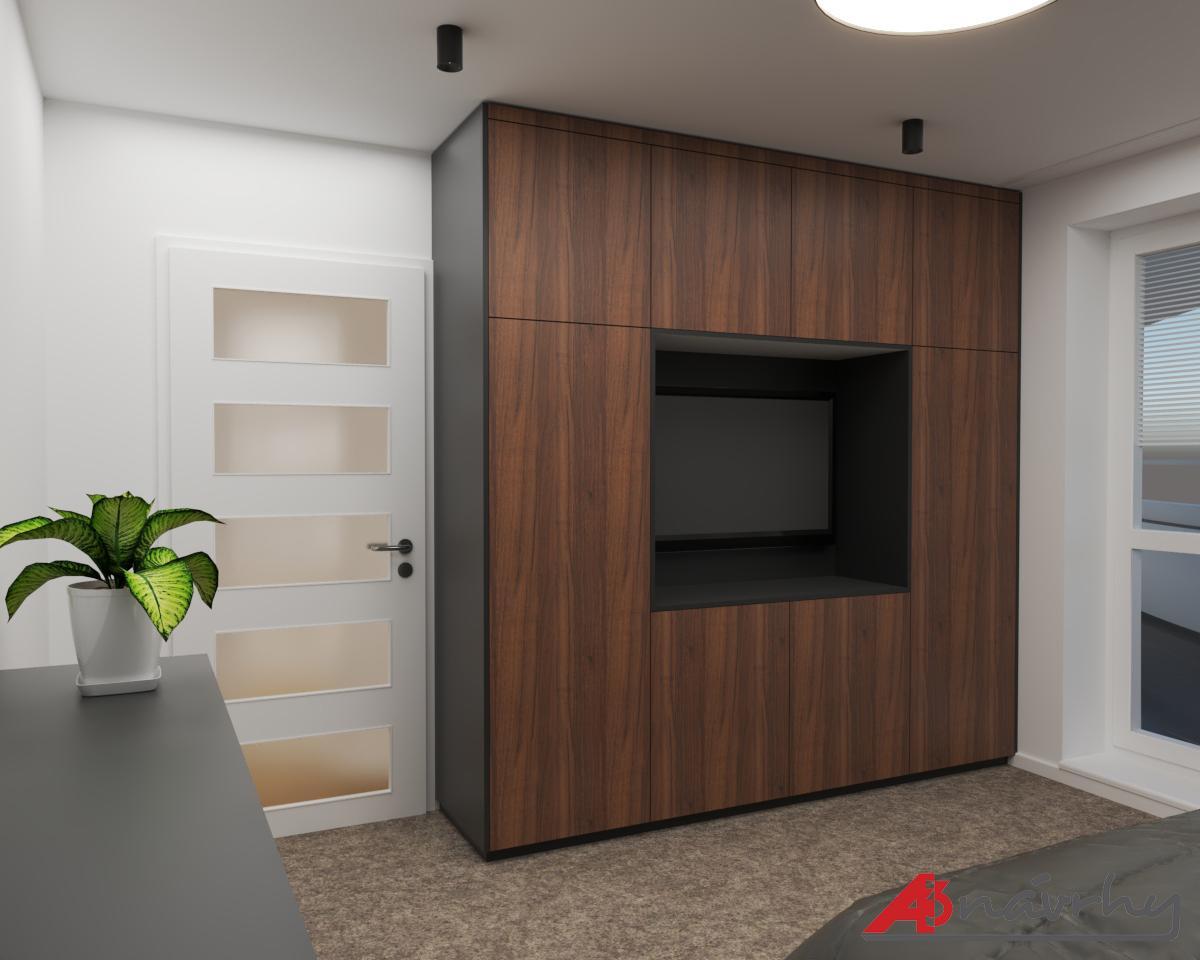 Grafické návrhy bytov a domov - Grafický návrh zariadenia trojizbového bytu v BA - obr.9
