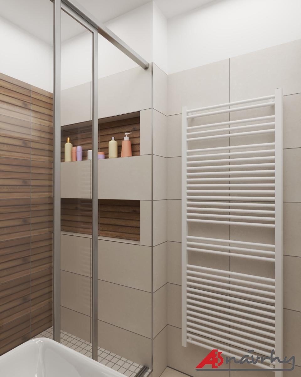 Grafické návrhy bytov a domov - Grafický návrh zariadenia trojizbového bytu v BA - obr.15