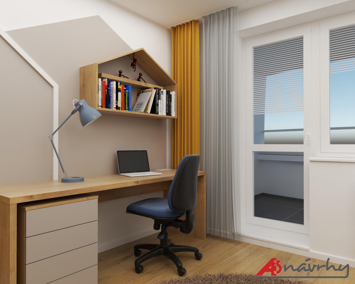 Grafické návrhy bytov a domov - Grafický návrh zariadenia trojizbového bytu v BA - obr.13