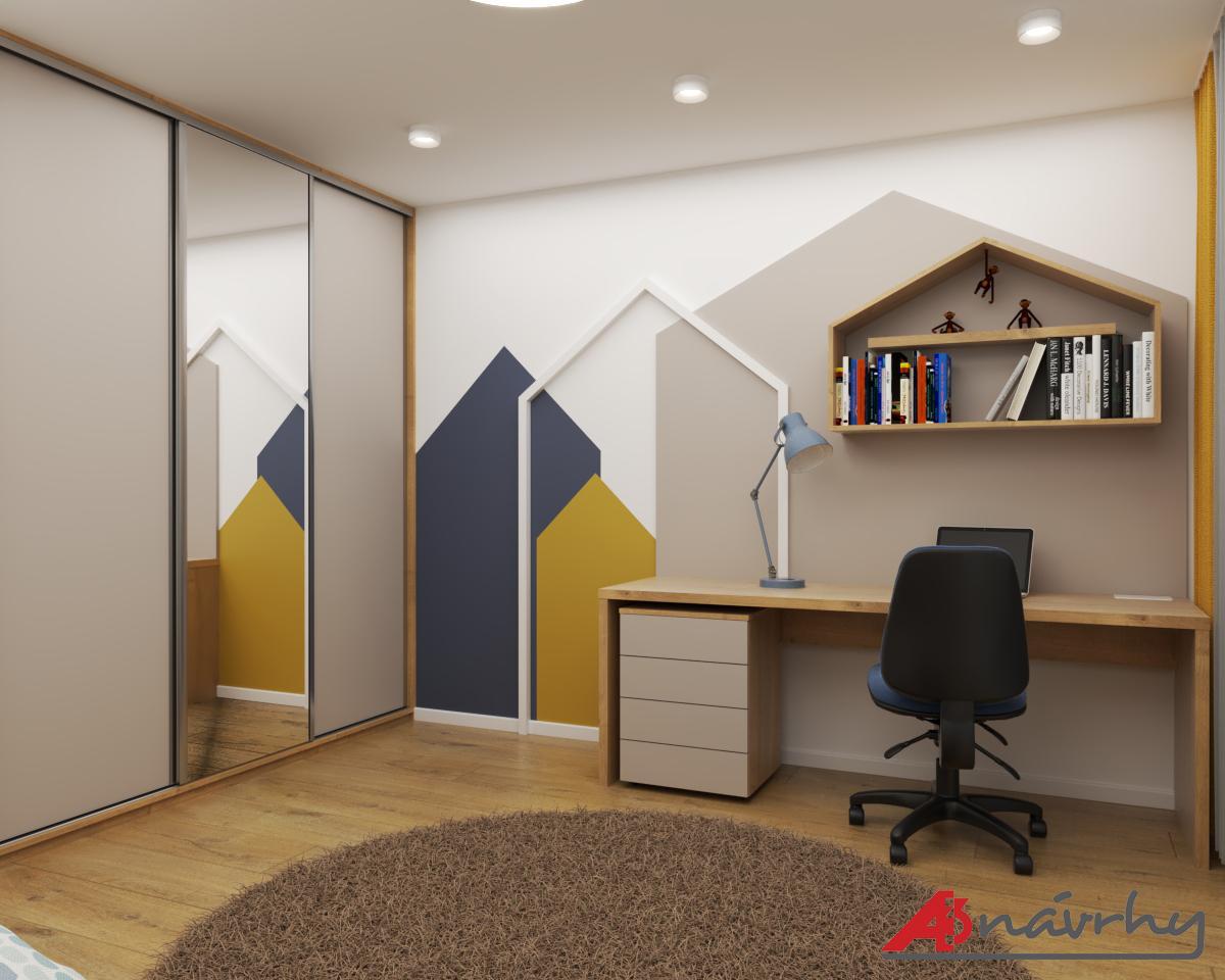 Grafické návrhy bytov a domov - Grafický návrh zariadenia trojizbového bytu v BA - obr.10