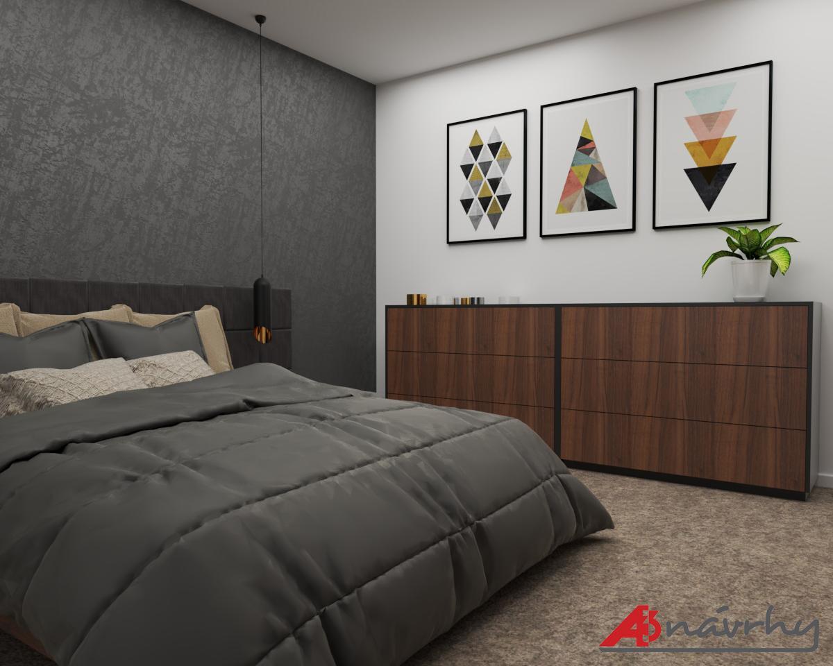 Grafické návrhy bytov a domov - Grafický návrh zariadenia trojizbového bytu v BA - obr.8