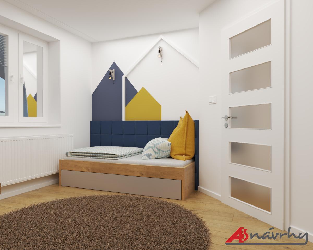 Grafické návrhy bytov a domov - Grafický návrh zariadenia trojizbového bytu v BA - obr.12