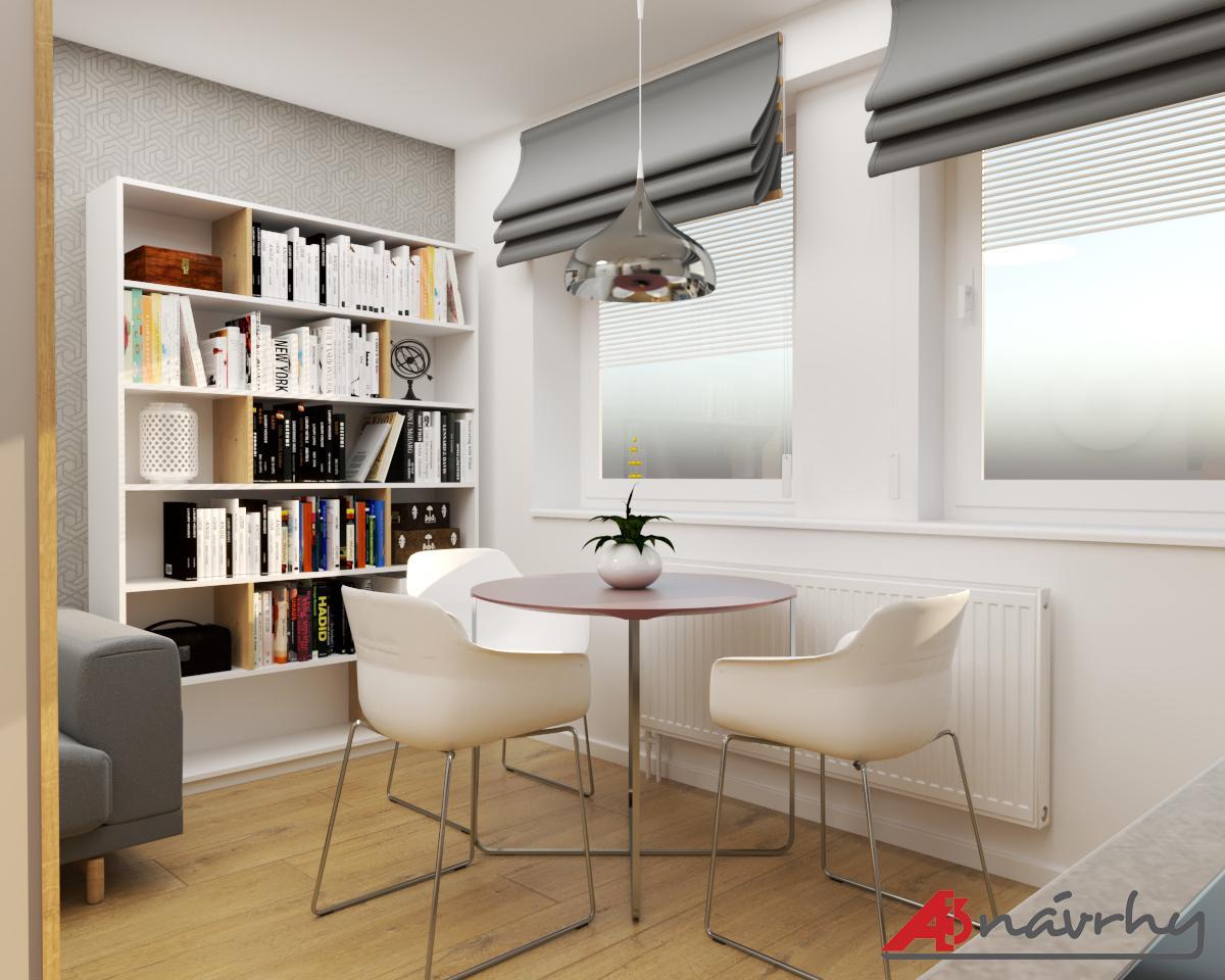 Grafické návrhy bytov a domov - Grafický návrh zariadenia trojizbového bytu v BA - obr.6
