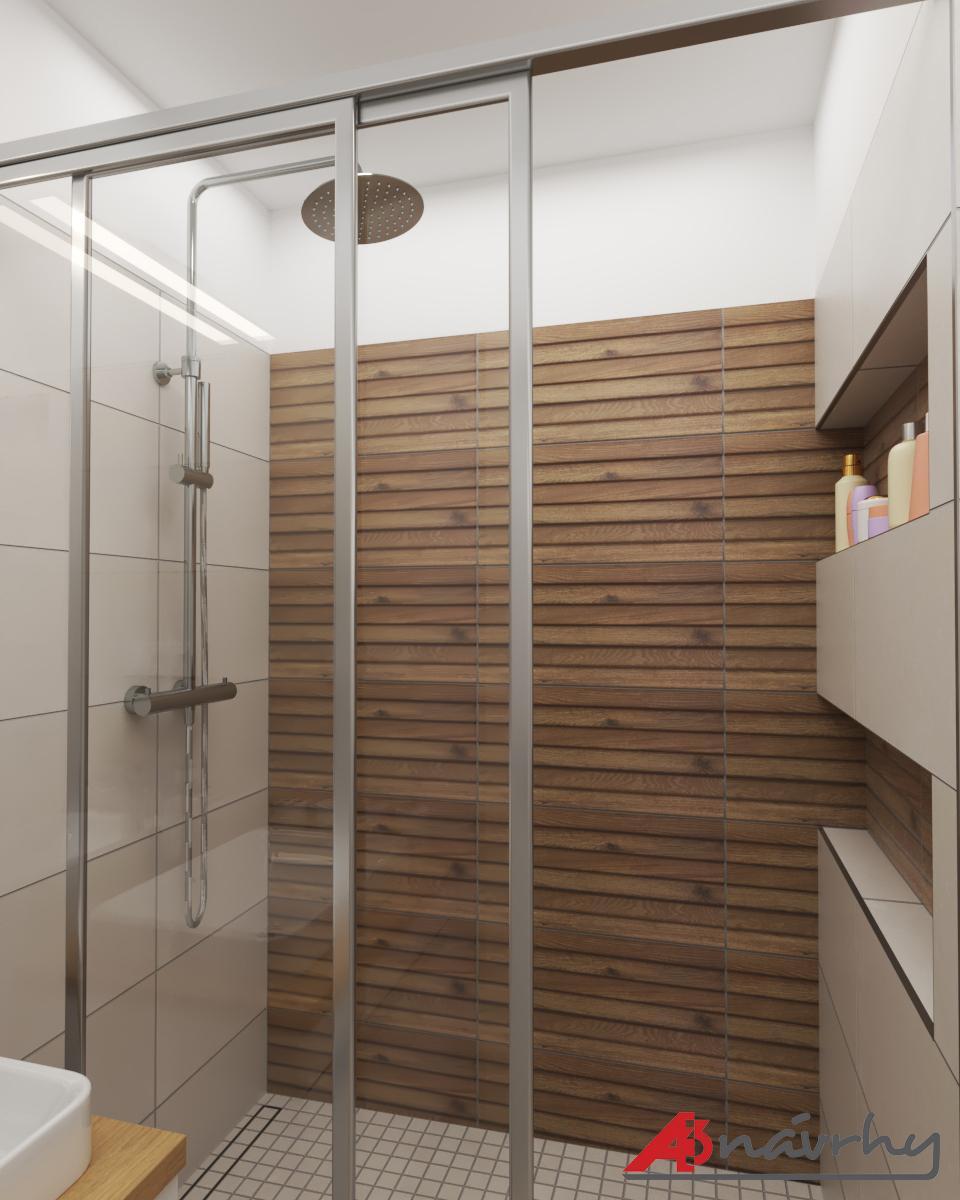 Grafické návrhy bytov a domov - Grafický návrh zariadenia trojizbového bytu v BA - obr.14