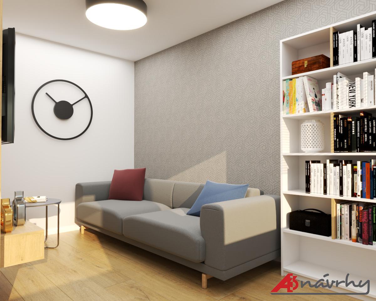 Grafické návrhy bytov a domov - Grafický návrh zariadenia trojizbového bytu v BA - obr.5