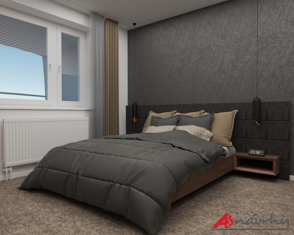 Grafické návrhy bytov a domov - Grafický návrh zariadenia trojizbového bytu v BA - obr.7