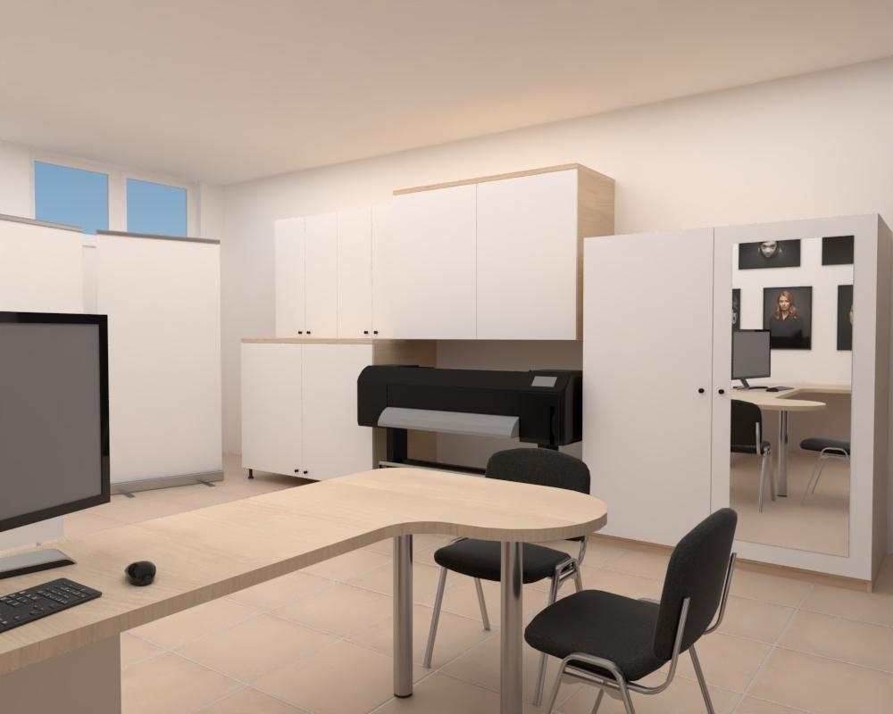 Grafické návrhy interiér 2020 - Grafický návrh zariadenia foto ateliéru v BB - obr.4