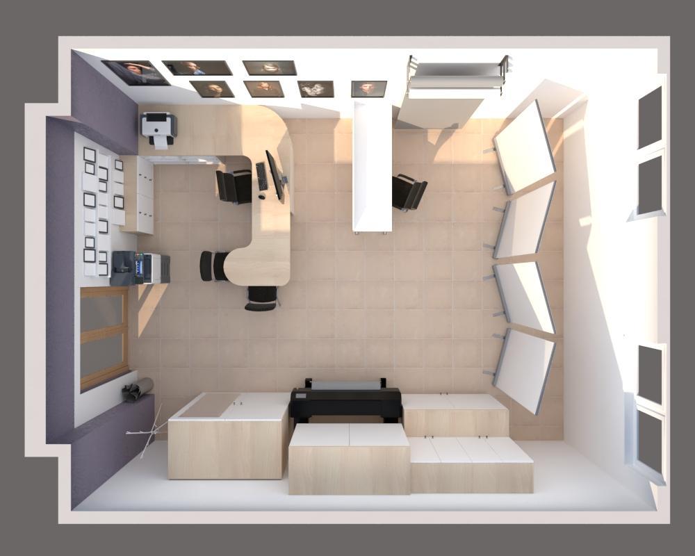 Grafické návrhy interiér 2020 - Grafický návrh zariadenia foto ateliéru v BB - obr.6