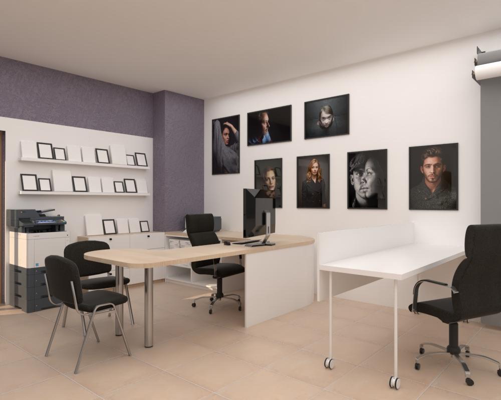Grafické návrhy interiér 2020 - Grafický návrh zariadenia foto ateliéru v BB - obr.2